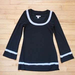 White House Black Market Contrast Tunic Top